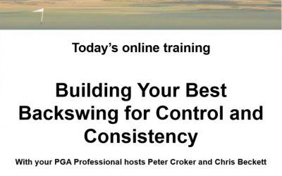 Building the Backswing Q & A  Presented by Peter Croker and Chris Beckett